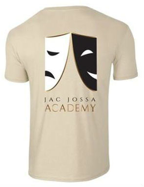 Jac Jossa School of Drama T-shirt with logo for drama students
