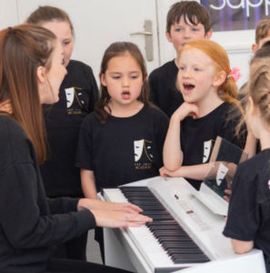 Singing class at Jac Jossa academy in Bexleyheath